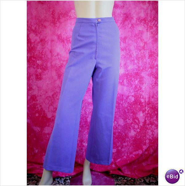Vintage 1960 Crimplene Trousers Size 14 Marks Spencer Womens