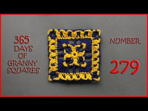 365 Days of Granny Squares Number 279 - YouTube