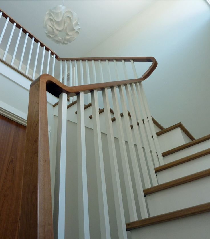 Best Md A Residence Modern Shaker Stair Rail Architecture 400 x 300