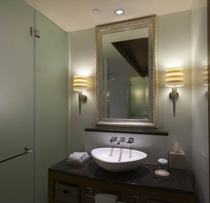 St Regis Sadiyyat Island Abu Dhabi, United Arab Emirates. #hotel #restroom #relaxing #light #design #wall #sconces