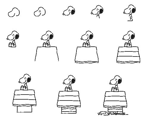 Draw snoopy in hebrew a lunchbox drawings inspiration for Awesome drawings step by step