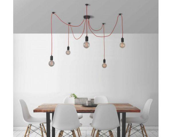 Lámpara Spider para 5 Bombillas Vintage Vistas de FilamentStyle | colgantes | de techo | La Casa de las Lámparas