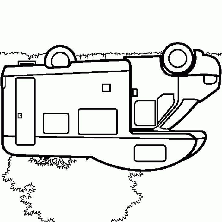 Les 14 meilleures images du tableau coloriages camping car pour enfant sur pinterest - Coloriage cars facile ...