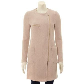 This pale pink wool coat would be right at home on the cobbles at Somerset House #LFW #MaxMyStyle