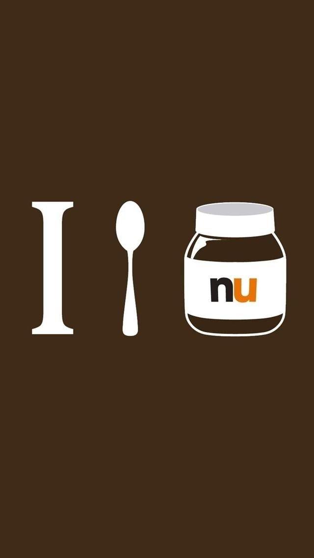 iPhone 5 Wallpapers: Photo i love nutella http://iphonetokok-infinity.hu http://galaxytokok-infinity.hu http://htctokok-infinity.hu