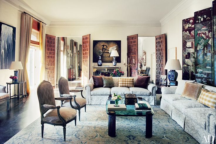 James+Costos+and+Interior+Decorator+Michael+S.+Smith+at+Home+in+Spain+|+Architectural+Digest