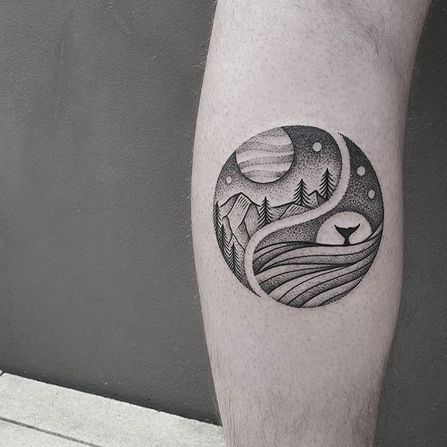 50 Mysterious Yin Yang Tattoo Designs