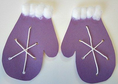 "Series l Snowflake Mitten Lacing Craft ~ Extension Activity for ""The Mitten""??"