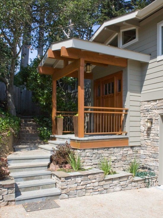 Image result for multi level front steps home ideas for Exterior makeover ideas