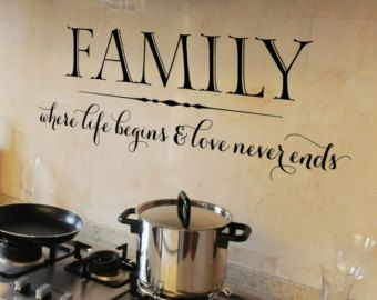 Family Wall Decal Quote Family Where Life Begins And by HomyVinyl