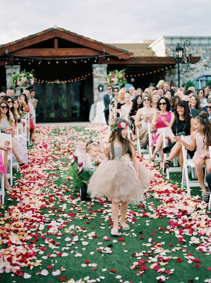 Flower petal aisle. Photography : Brushfire Photography  Read More on SMP: http://www.stylemepretty.com/arizona-weddings/scottsdale/2016/08/19/outdoor-desert-scottsdale-wedding/