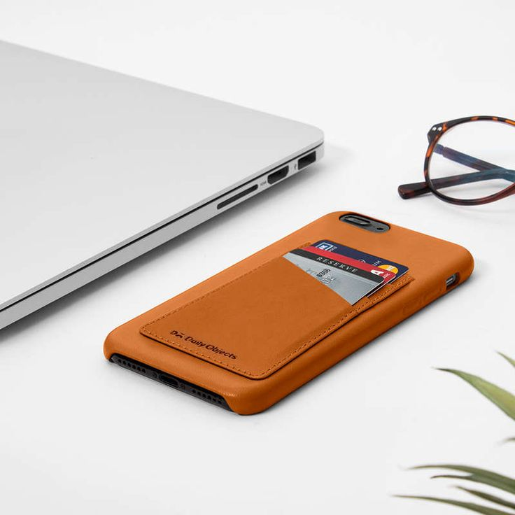 Tan Leather Card Case #CoverForIPhone8Plus