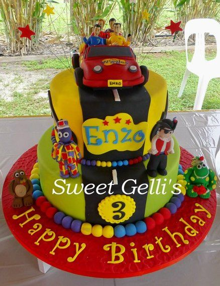 Wiggles cake with car