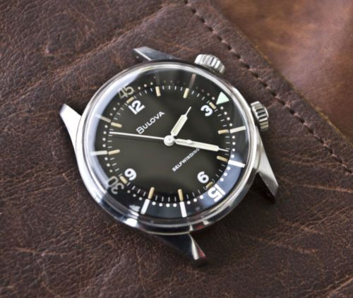 VINTAGE-BULOVA-DIVER-AUTOMATIC-WATCH-S-STEEL-WATERPROOF-COMPRESSOR-BREVET