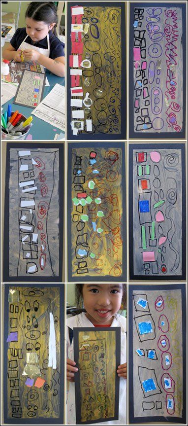 Klimt for preschool pattern and shape