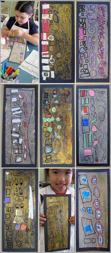 Klimt for preschool pattern and shape