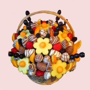 Mandarin Fruit Basket - Fruit Bouquet, Fruit Bouquets, Fruit Flowers - Fruit basket and gift baskets - delivery London