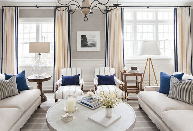 East Coast House with Blue and White Coastal Interiors