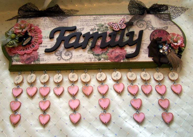 What an awesome idea ~ family birthday calendar wall hanging | Dawna's Place…