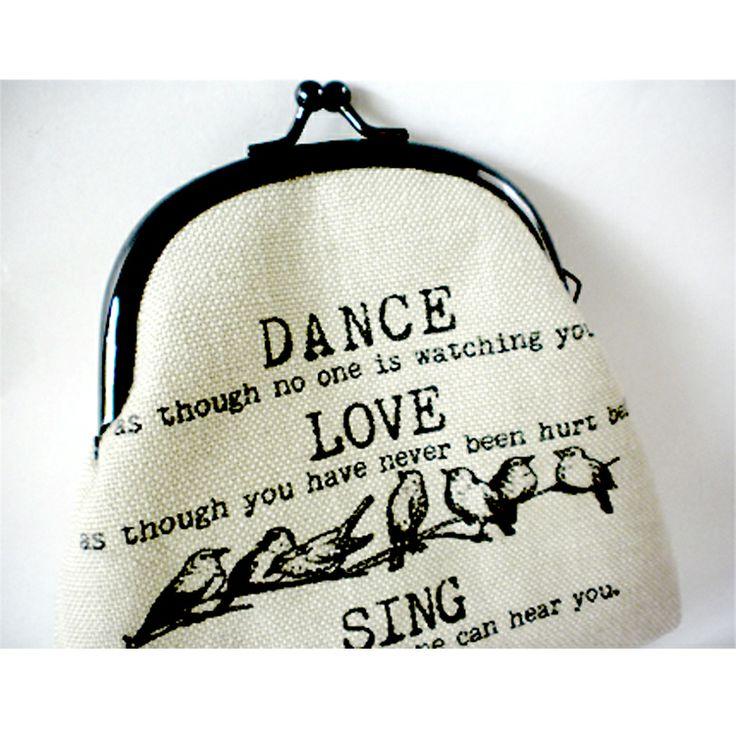 "Sjoti ""Dance Love Sing"" Frame Coin Purse"
