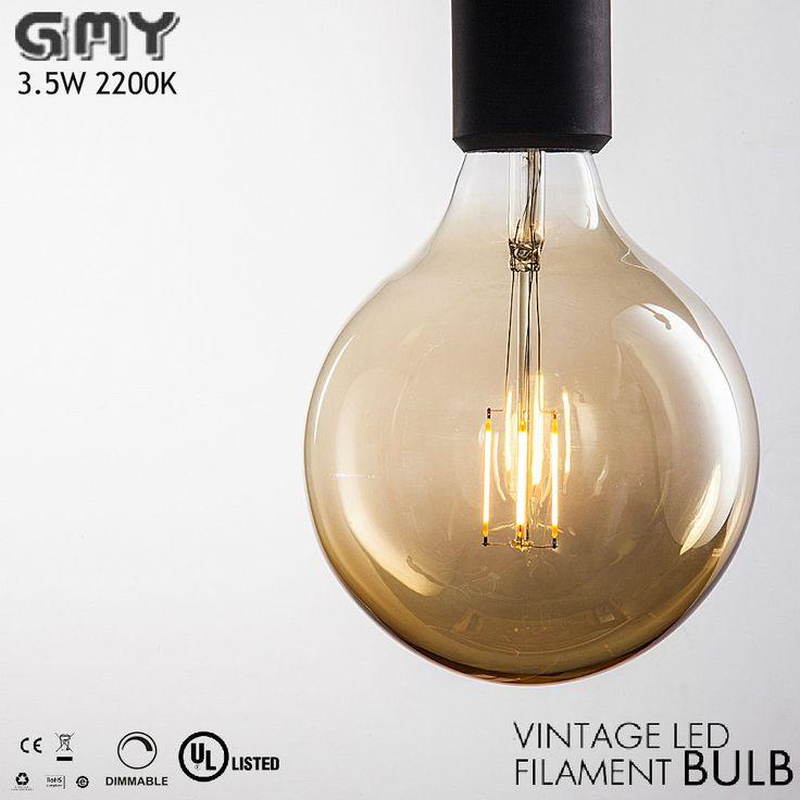 G25 3.5W Dimmable Edison Vintage Style Led Filament Bulb Globe E26 AC120V 2200K #GMYLighting