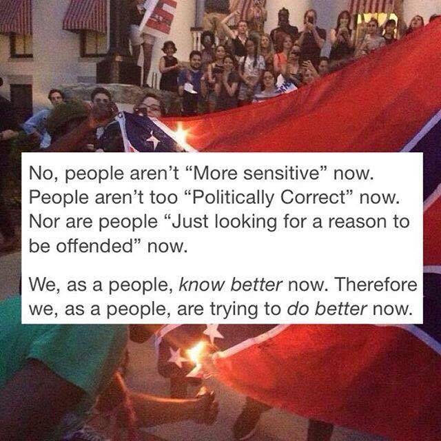 Lol they're burning it. Rednecks hate that