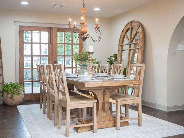 666 best fixer upper images on pinterest country homes for Fixer upper dining room ideas