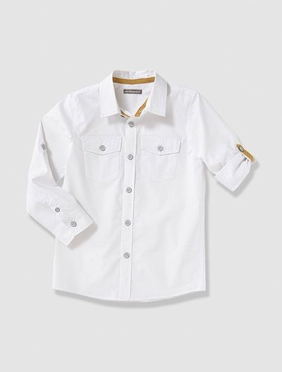 Boy's Long-Sleeved Poplin Shirt
