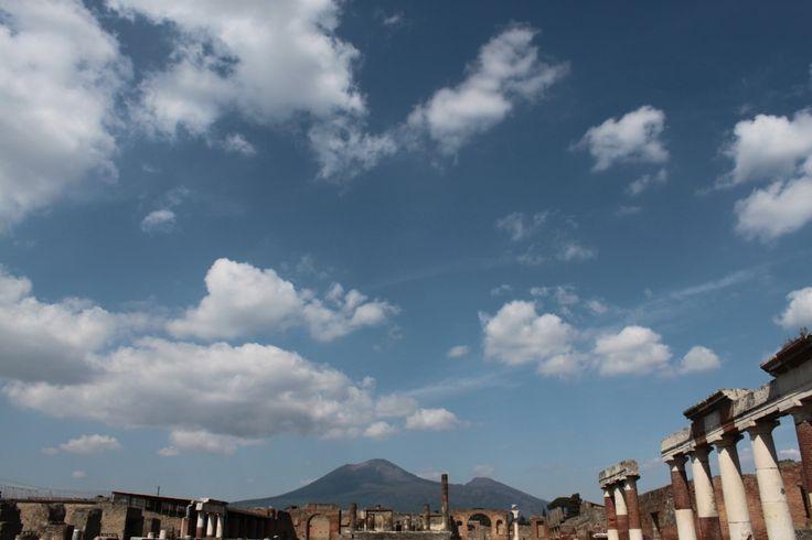 """POMPEI - """"Si elevava una nube, ma chi guardava da lontano non riusciva a precisare da quale montagna: nessun'altra pianta meglio del pino ne potrebbe riprodurre la forma. Infatti slanciatosi in su in modo da suggerire l'idea di un altissimo tronco, si allargava poi in quelli che si potrebbero chiamare dei rami."""" Plinio il Giovane"""