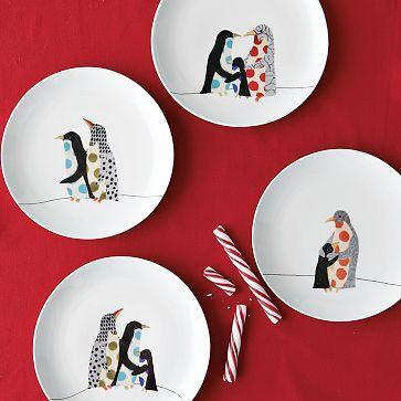 Penguin friends dessert plates $29