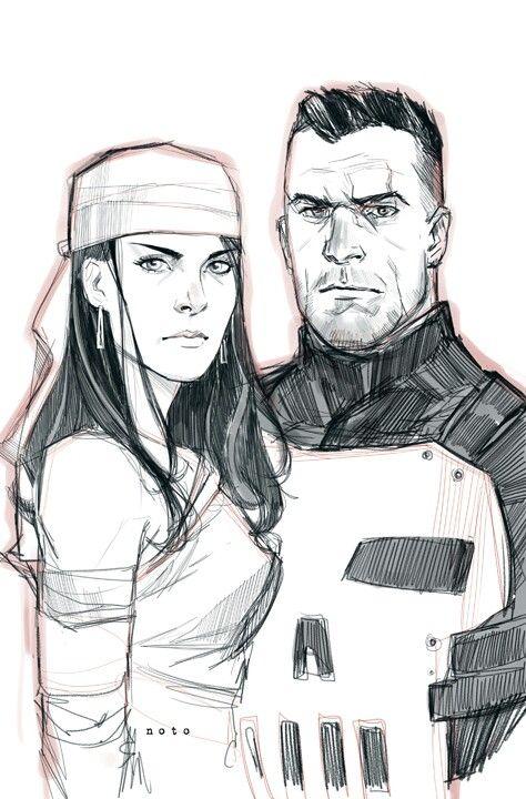 Elektra & Punisher •Phil Noto