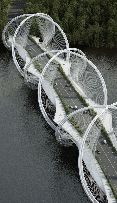 San Shan Bridge in China  architecture | design | bridges | modern bridges | creative architecture