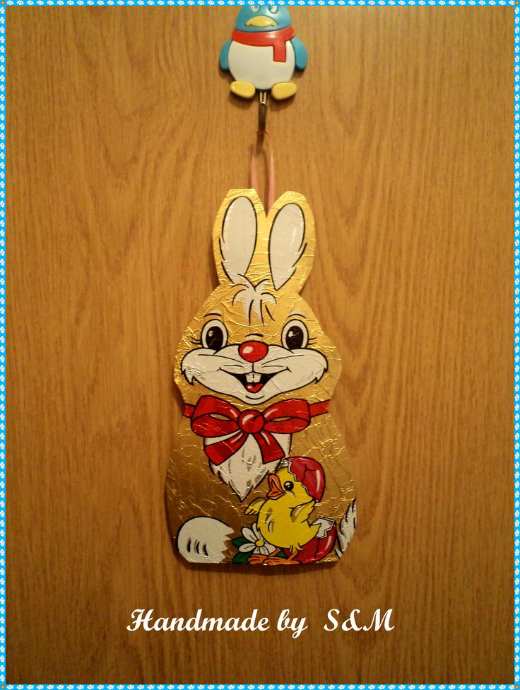 made from chocolate bunny paper.