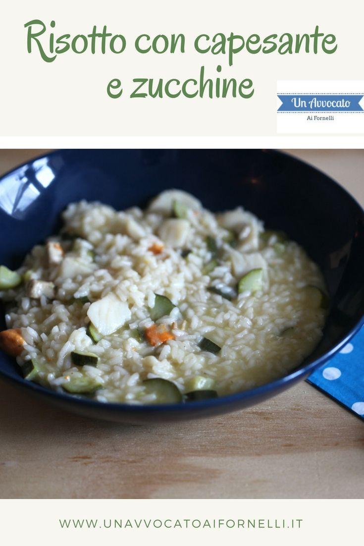#risotto con #capesante e #zucchine