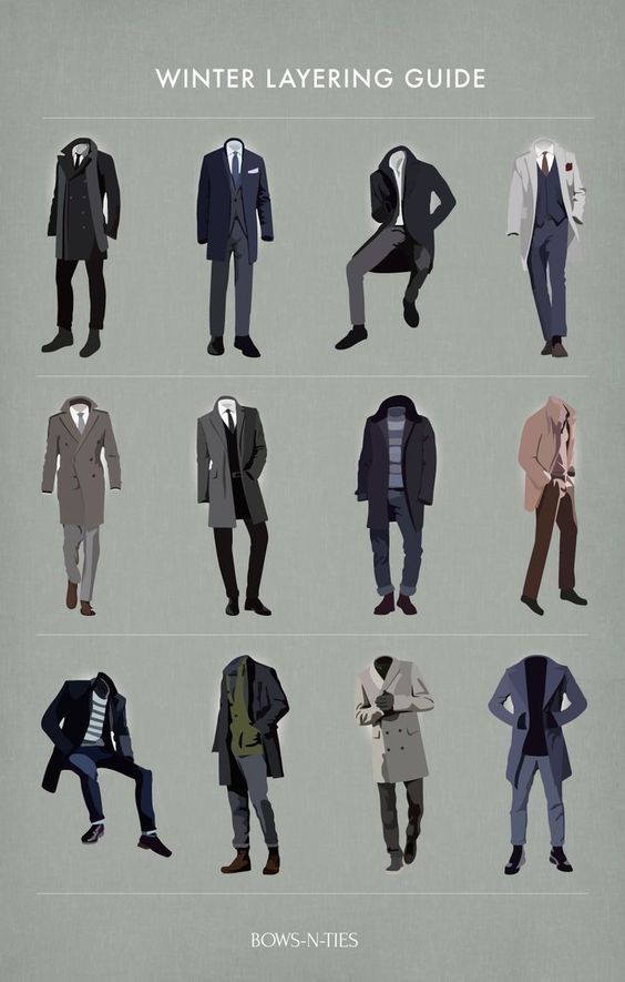 Men's Winter layering guide | Men's Fasion | Pinterest | Winter and Fashion