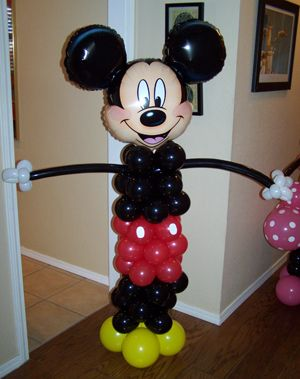 Mickey Mouse,  this is so cute my great niece would go crazy.  Great idea for her birthdays.