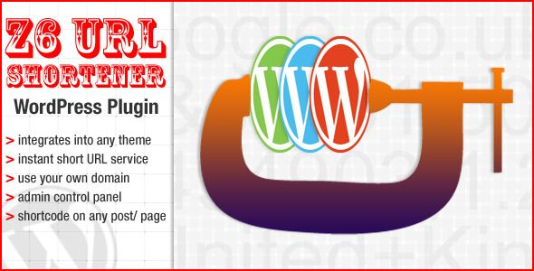 The Z6 URL shortener WordPress plugin   http://codecanyon.net/item/the-z6-url-shortener-wordpress-plugin/3217351?ref=damiamio       The Z6 URL shortener WordPress plugin integrates nicely into your current theme and turns your website, on your own domain, into a URL shortening service. Features - Checked and confirmed WordPress 3.5 compatible - Slips nicely into your current theme - Admin page to keep track of your short URLs - Integrates with WordPress user management system allowing your…