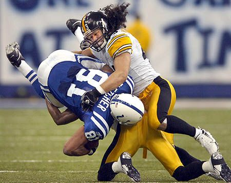 Troy Aumua Polamalu (/ˌpoʊləˈmɑːluː/; born April 19, 1981), born Troy Aumua, is an American football strong safety for the Pittsburgh Steelers of the National Football League (NFL). He was drafted in the first round (sixteenth overall) of the 2003 NFL Draft by the Steelers. He played college football for the University of Southern California.