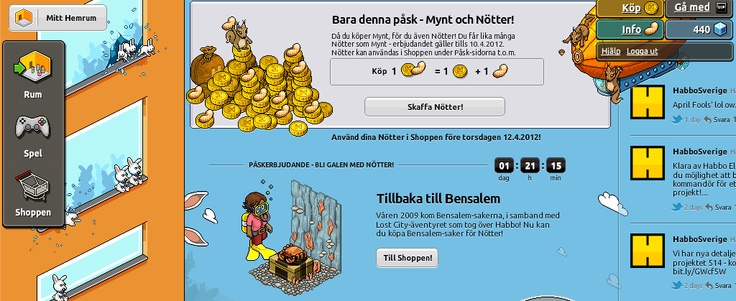 Background of Habbo Hotel (client page) Easter