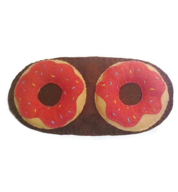 Doughnut sleep mask donut eye mask cake sleep mask by NipNopsUK