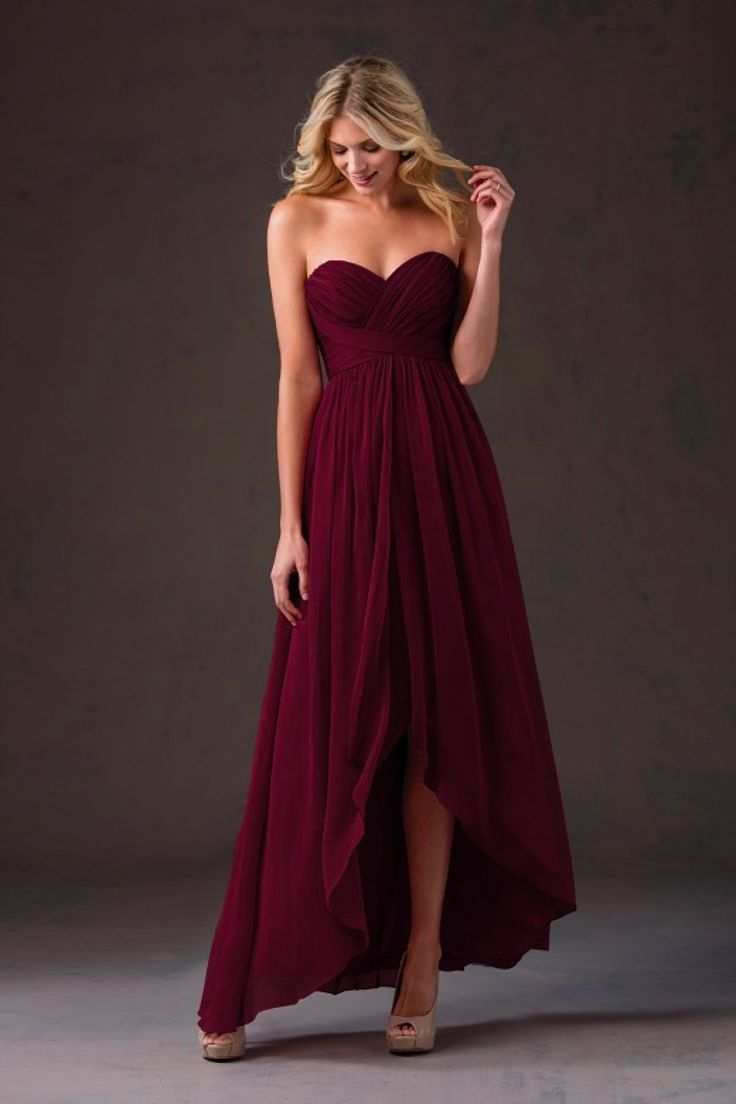 #BridesmaidDresses. Style L184052 in #cranberry. Jasmine