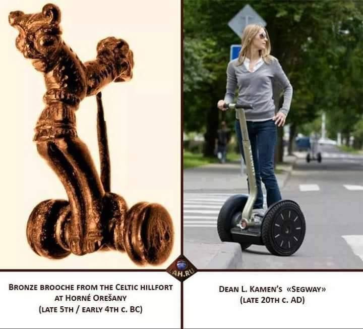 If there was ever a doubt that there was any historical merit in us getting our own Segway then I think this picture validates our decision!