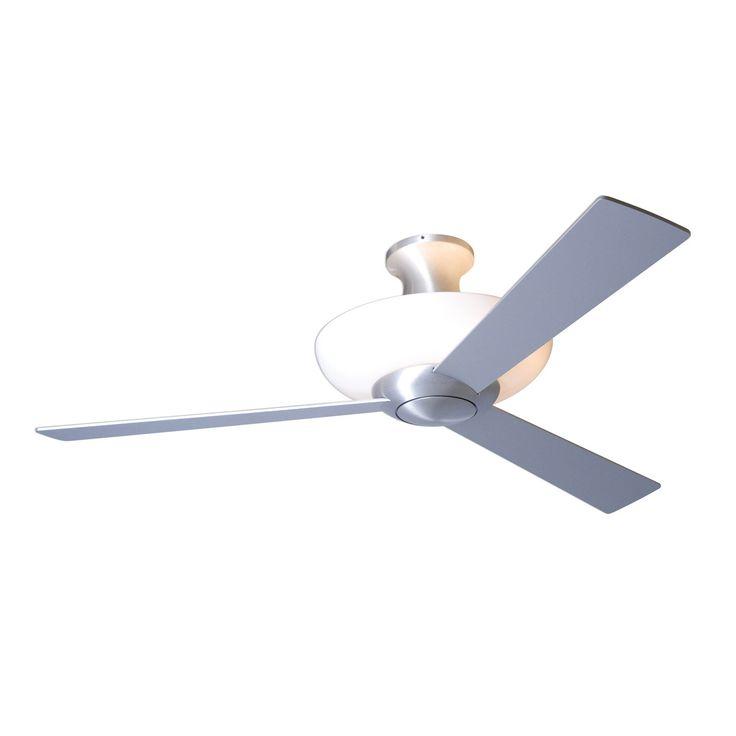 Aurora hugger ceiling fan with light by modern fan company