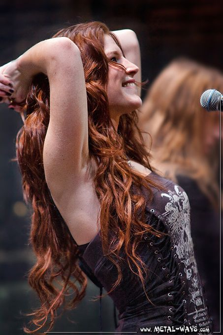 Charlotte Wessels of Delain. My number one inspiration! She has had both classical and jazz training.