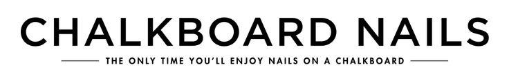 Chalkboard Nails | Nail Art Blog - tons of nail art tutorials :)