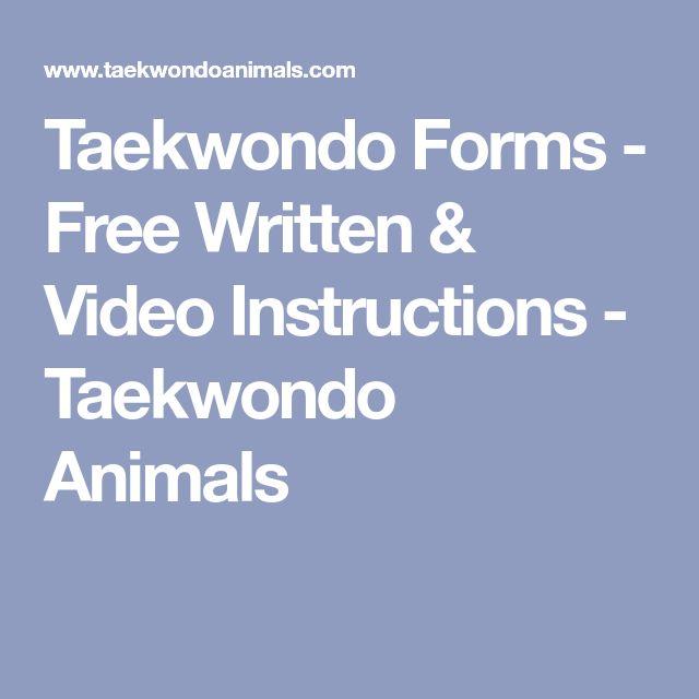 Taekwondo Forms - Free Written & Video Instructions - Taekwondo Animals