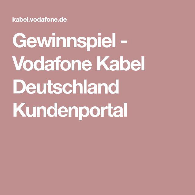 Gewinnspiel - Vodafone Kabel Deutschland Kundenportal