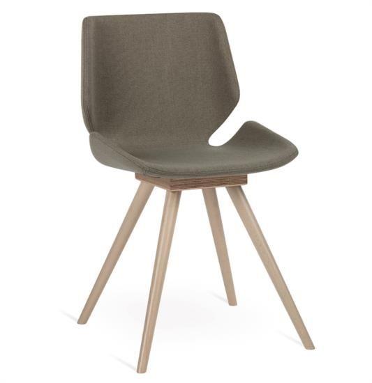 Sedia in legno e tessuto o ecopelle in varie tinte