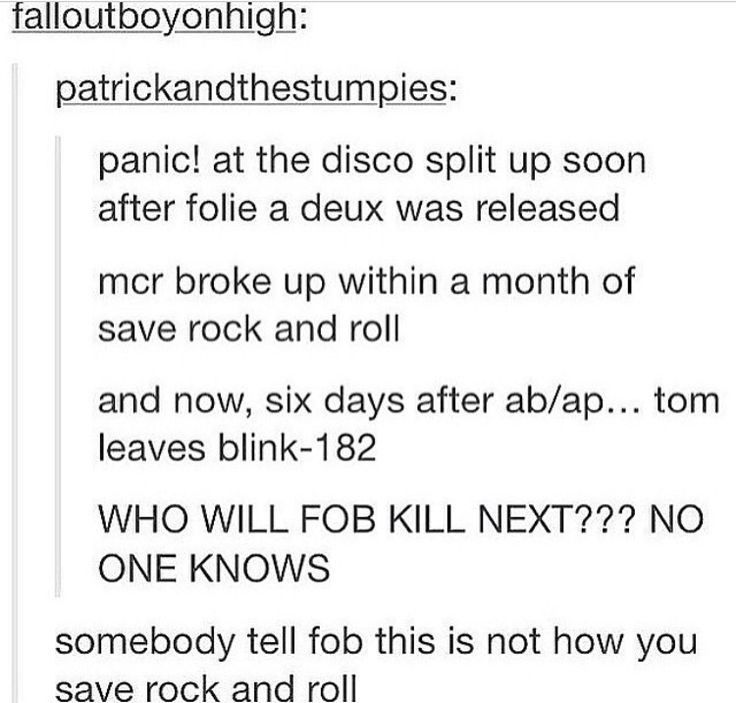 this is not how you save rock and roll>>> maybe this is why we haven't had new content in a while