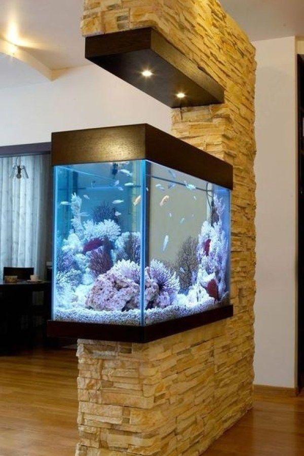 Cool Partition Living Room Ideas 44 Home Look Aquarium Design